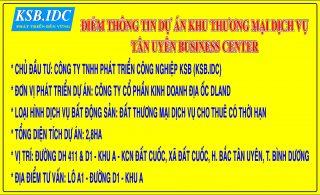 Dự án thương mại dịch vụ Tân Uyên Business Center